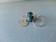 Sterling silver earrings blue stone earrings by MaisyGraceDesigns