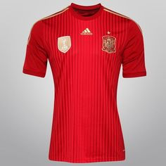 Netshoes -  Camisa Adidas Seleção Espanha Home 2014 s/nº