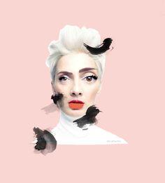 Collage: Kristýna Hrdličková ( KiKi ArtWorks)  Model: Barbora Poláková 2,8,5 - herečka a zpěvačka