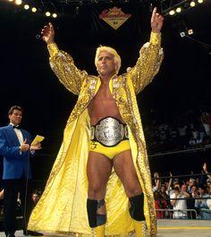 WCW World Heavyweight Champion Ric Flair Nwa Wrestling, World Championship Wrestling, Wrestling Stars, Wrestling Superstars, British Wrestling, Japanese Wrestling, Attitude Era, Wwe Tna, Ric Flair