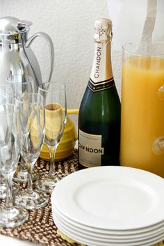 A very sunny yellow brunch setting with CW by CorningWare™ #CWColor #ad