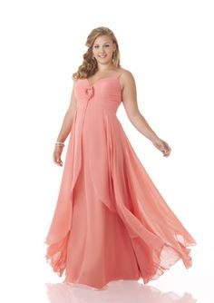 Cheap and Australia Watermelon A-line Spaghetti Straps Pleated Beaded Flower Chiffon Skirt Floor Length 2015 Spring Bridesmaid Dresses 7411 from Dresses4Australia.com.au