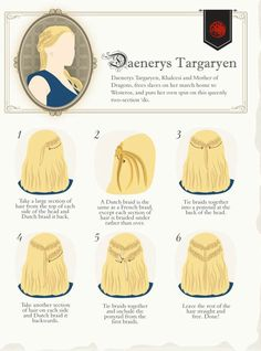 Game of Thrones hair styles (more at the source)