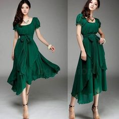 green dress love the color!