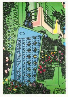 Patrick Caulfield. Entrance 1975.