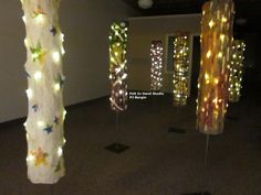 """Glow Tube™ Forest Imagine the delight of visitors to my """"Pop-Up"""" Gallery over the weekend when they saw Felt Art in 3-dimension. They loved the light and movement of the sculptural Glow Tube™."""