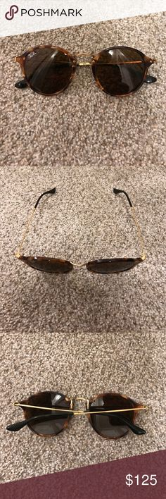 Ray Ban Round Fleck Ray Ban Round Fleck. NEVER worn. I bought them with another pair of sunglasses, and have never worn these. Ended up getting attached to the other pair! Ray-Ban Accessories Sunglasses