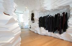 Richard Chai + Snarkitecture: punch a hole in the wall so i can put stuff in it