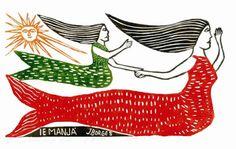 Arte Popular do Brasil: J. Borges, Iemanjá, xilogravura.