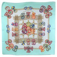 3000c9b218c5  Hermès  Carré  LesRubansDuCheval  Silk  Occasion  SecondHand Carré Hermes,  Ruban