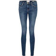 Frame Denim De Jeanne Skinny Jeans - Huntley ($365) ❤ liked on Polyvore featuring jeans, pants, bottoms, huntley, blue jeans, skinny jeans, frame denim, super skinny jeans and skinny fit jeans