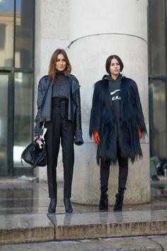 Giorgia Tordini and Gilda Ambrosio - Paris Fashion Week Fall 2016