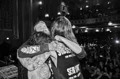 Suicide Silence before the Mitch Lucker memorial gig. R.I.P Mitch.