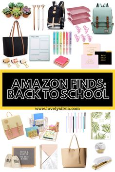 back to school, school supplies, cute office supplies, cute office, office inspi. Cute Office Supplies, College School Supplies, Office Supply Organization, Office Organization, Organizing, Best Amazon Buys, Gold Desk Accessories, Amazon Hacks, Amazon Gadgets