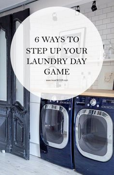 Here are a few ways to give your laundry space a little makeover, so that when the time comes for you to lug your hamper out of your room, you'll welcome the day it does.