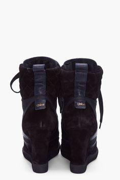 Chloe black wedge sneaker    MUST HAVE!!!