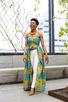 African Print Butterfly Dress