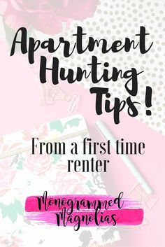 Apartment Hunting Tips on Monogrammed Magnolias