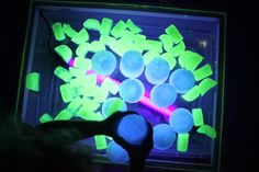 glow water/ice - love these ideas; but i doubt i'd let the kids bathe in the glow bath.