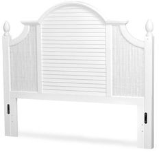 Mathews Panel Headboard Bayou Breeze Size: Twin, Color: Cottage White