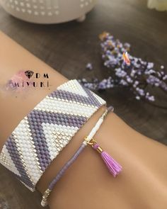 """310 Likes, 3 Comments - мιуυкι_∂єѕιgη (@dm_miyuki) on Instagram: """"Purple ——————————————————— Design &photo Dm miyuki  . - - #miyuki #bileklik #bracelet…"""""""