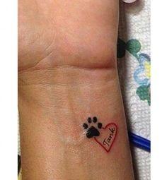 small pawprint heart name tatoo idea. small pawprint heart name tatoo idea. Mini Tattoos, Dog Tattoos, Trendy Tattoos, Body Art Tattoos, Small Tattoos, Tatoos, Small Animal Tattoos, Tattoo Animal, Arrow Tattoos