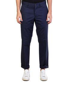 PRADA Prada Men'S Gabardine Stretch Slim Fit Chino Pants Blue'. #prada #cloth #pants