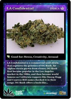 LA Confidential is a commercial seed strain that captures the genetics of OG Kush. Cannabis Edibles, Cannabis Oil, Cannabis News, Ganja, La Confidential, Weed Pictures, Weed Strains, Cbd Oil For Sale, Buy Weed Online