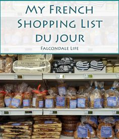 My husband's flight home from France is delayed so I sent him a quick shopping list. See what French treats I asked him to stock up on.