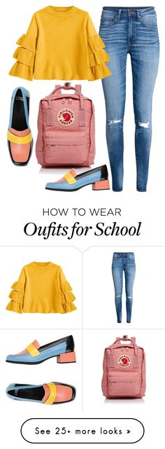 """""""School"""" by cholleemarie on Polyvore featuring Fjällräven, H&M and Camper"""