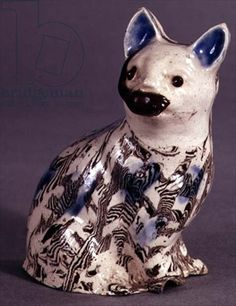Staffordshire 'Solid Agate' ceramic cat, c.1745, English School, Private Collection