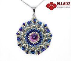Beading Tutorial with Zoliduo beads - Kalinda Pendant design by Ellad2