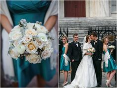 Beautiful Blooms - Bridesmaid Bouquet Roses, Spray Roses, Ranunculus, Dusty Miller, Silver Brunia Berries Isabel March Photography