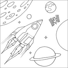 Outer Space Coloring Page . Outer Space Coloring Page . Krypto the Dog Go Into Outer Space Coloring Pages Krypto Planet Coloring Pages, Crayola Coloring Pages, Shape Coloring Pages, Printable Coloring Pages, Coloring Sheets, Coloring Pages For Kids, Space Party, Space Theme, Solar System Coloring Pages
