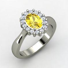 The Princess Kate Ring #customizable #jewelry #sapphire #diamond #palladium #ring