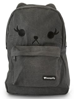 """Cat""+Denim+Backpack+by+Loungefly+(Black)"