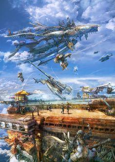 Concept Art of Bhujerba, Final Fantasy XII.