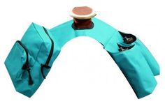 TEAL Insulated Cordura Nylon Western Saddle Horn Bags w/ Water Bottles NEW TACK