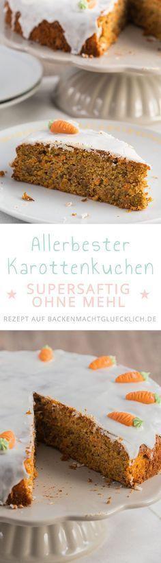 Ein saftiger Möhrenkuchen (Rüblikuchen) gehört einfach zum Osterfest. Diesen köstlichen Karottenkuchen ohne Mehl liebt die ganze Familie!
