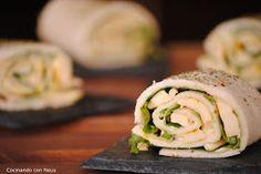 Cocinando con Neus: Rollitos de sándwich de pollo con mahonesa de curry