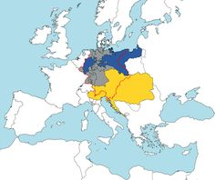 The German Confederation (Deutscher Bund) - map from 1820 European Map, European History, World History, Congress Of Vienna, German Confederation, Deep Time, Kingdom Of The Netherlands, Hall Of Mirrors, Holy Roman Empire