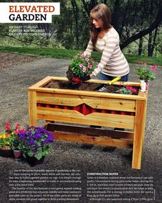 #641 Planter Box Plans - Outdoor Plans