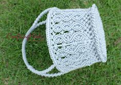 Macrame Basket ,Weaving basket,Smallsize,Handmade,Round shape,Light grey Color,Rope,Storage,Gift basket,Decorated,Living room ,Kitchen. on Etsy, 821,05 Kč