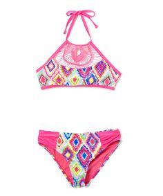 Pink Diamond Girl Bikini - Girls