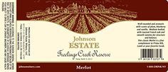 2012 Johnson Estate Freelings Creek Merlot 750 mL *** You can find out more details at the link of the image. (This is an affiliate link) Cabernet Sauvignon, Pinot Noir, Gourmet Recipes, Wines, Red Wine, Alcohol, Image Link, York, Awesome