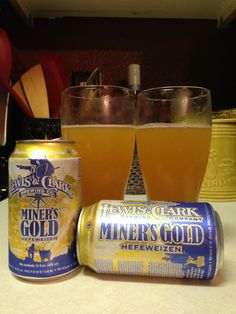 Miners Gold Hefeweizen from Lewis & Clark Brewery in Helena, MT.