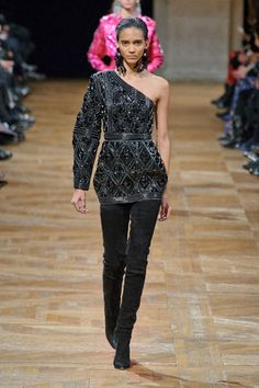 One of the least disgusting pieces in this collection. #FW2013 #PFW #Balmain