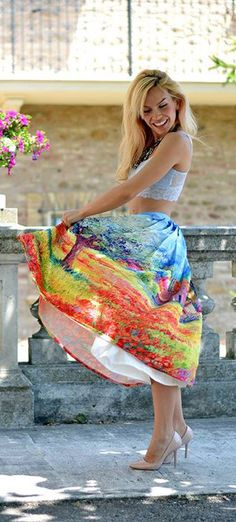 summer print skirt