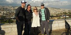 World Golf Hall of Fame member Amy Alcott, PGA Tour players Hunter Mahan and Michael Thompson and instructor Sean Foley will be spreading the gospel of golf in Israel. Pictured left to right, Chris Armstrong of Wasserman Media Group; Sean Foley; Kandi Mahan and Hunter Mahan.