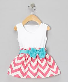 Pink Zigzag Bow Dress - Doesn't look like it would be too difficult to make, especially if I started with a pre-made tank